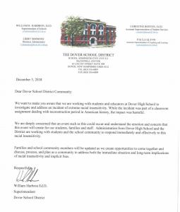 dover school letter