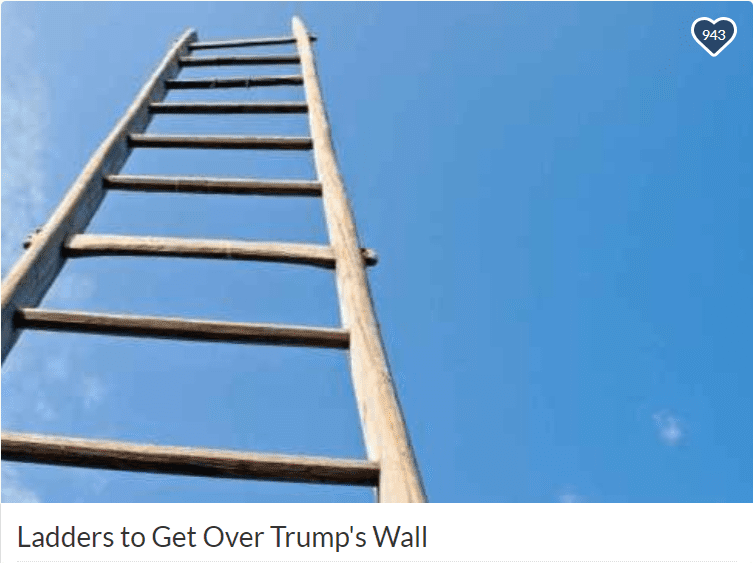 ladders over wall gofundme